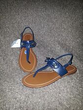 KATE SPADE New York-Carolina-Thong Sandals-Navy Blue Leather-Sz 7.5-NEW
