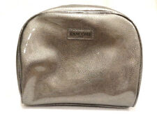 """New! Lancome Silver Faux Leather Plastic Dome Shape Cosmetic Bag, 9"""" x 7"""" x 3"""""""