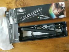 Braun Satin Hair 7 Hair Straightener, Black, used once, great Condition in box.