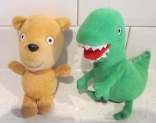 "7"" PEPPA PIG MR DINOSAUR PEPPA'S AND TEDDY TY Peluche Soft Toys"