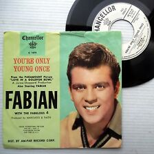FABIAN teen pop RARE PICTURE Sleeve 45 You're only young once Love that I'm e114