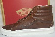Vans Sk8 Hi Reissue Leather Dachshund Potting Soil Brown Shoe Men 6.5 , Women 8