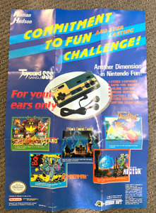 Hudson Soft Joycard HUD-NES-US-1 Foldable Poster NES Nintendo Manual Only RARE