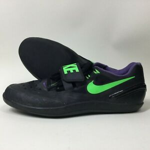 Nike Zoom Rotational 6 Men's Sz 10.5 Black Shotput Discus Throw Shoes-685131-035