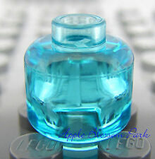 NEW Lego TRANS LIGHT BLUE MINIFIG HEAD - Plain Clear/Translucent Alien Head