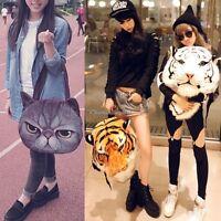 Unisex 3D Animal Head Bag Rucksack Backpack Shoulder Bags Knapsack UK
