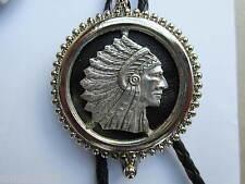 Bolo tie indian head design western wear rock and roll wear stagewear.