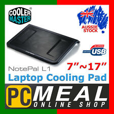 "CoolerMaster NotePal L1 Laptop Stand Cooling Pad 160mm fan 7~17"" Cooler Master"