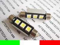 2pz LAMPADINE 3 LED SMD5050 SILURO 42mm CANBUS NO ER N2