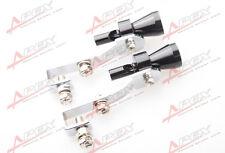 2PCS Universal Turbo Sound Exhaust Whistle/Fake Blowoff BOV Simulator Black s D