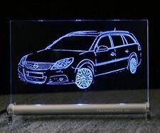 Opel Vectra C Caravan als Gravur auf LED-Leuchtschild