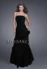 ONE OF A KIND! BEADED FORMAL/EVENING/PROM/BALL/BRIDESMAID DRESS BLACK AU 10/US 8