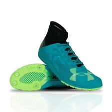 UA Charged Bandit XC Spike Running Shoes 1273938-933 Tahitian Teal/Black 11 NEW