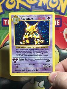 Pokemon - Shadowless Alakazam Holo - 1/102 Base set exc 5406