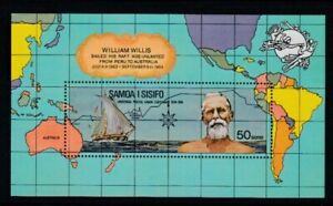 SAMOA William Willis Sails Raft from Peru to Australia UPU MNH souvenir sheet