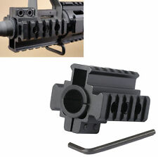 "Hunt Weaver Picatinny 7/8"" 20mm Tri-Rail Barrel mount For Rifle scope Lights #a9"