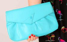 80s vintage bright blue flash clutch bag shoulder bag by Stein Montreal