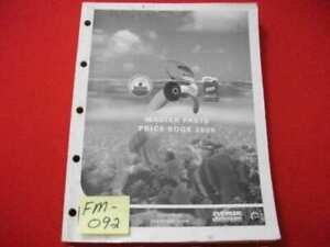 2006 JOHNSON/EVINRUDE OUTBOARDS MASTER PARTS PRICE BOOK MANUAL ORIG. PARTS #'s