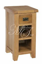 Rustic Oak Side Lamp Table Unit | Shrewsbury Range