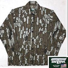 SAFTBAK Men's Long Sleeve Button Down Camouflage Hunting Shirt Tree Camo Green L