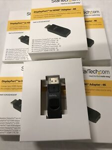 Joblot 5 X StarTech.com DisplayPort to HDMI Adapter - 4K - DP2HD4KADAP