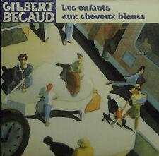 CD GILBERT BECAUD - les enfants aux cheveux blancs, 2-track promo