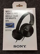 SONY GENUINE MDR-ZX110NC NOISE CANCELLING HEADPHONES MDRZX110NC - BLACK