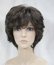 Excellent Dark Brown Short Curly Women Ladies Daily wig FTLD030 + free wig cap