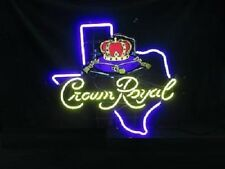 "New Crown Royal Whiskey Texas Beer Bar Pub Light Lamp Neon Sign 24""x20"""