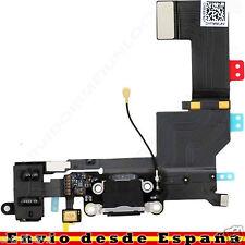 Conector Dock de carga de 3,5 mm puerto Flex Cable para iPhone 5s Negro