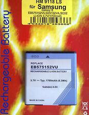 Hm9118ls Li-ion 3,7 V 1700 mAh Batterie pour Samsung Galaxy S eb575152vu 625152va sc02