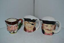 Vintage Japan Toby Jug Mug Cup Character Lot of 3