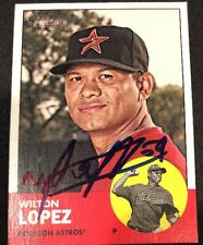 Wilton Lopez Astros Signed Auto Autographed 2012 Topps Heritage Card #189 ~ COA