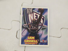 Sam Cassell Autographed Hand Signed Card Brooklyn Nets Hoops