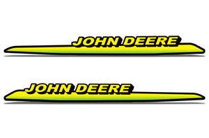 2pc Set for John Deere Tractor Upper Hood Vinyl Decal Stickers 325,335,345,355d