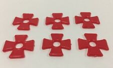 1963 Wwi Dogfight Game Replacement Pieces Parts 6 Red Markers