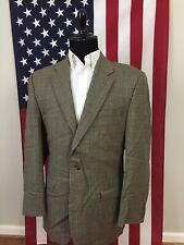 44Xl Lauren Ralph Lauren Wool Houndstooth Check Beige Blazer Sport Coat men 1309