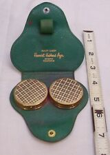 Harriet Hubbard Ayer Beauty Caddie Ladies Twin Compact & Make Up Set Goatskin