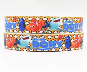 "Sale! 3 Yards... 7/8"" Printed Disney  Finding DORY Disney Grosgrain Ribbon  Lisa"