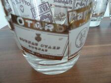 6 Gläser Whiskygläser Cognacgläser Goldschrift verschiedener Marken Otard u.a.