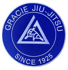 Xl Gracie Jiu Jitsu Patch (9 Inch) Iron/Sew-On Badge Martial Arts Bjj Gi Kimono
