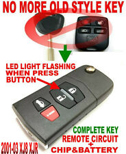 ALLin1 STYLE FLIP CHIP KEY REMOTE FOR JAG XJ8 XJR KEYLESS ENTRY FOB TRANSPONDER