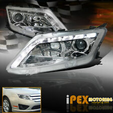 2010 2011 2012 Ford Fusion S/SE/SEL ULTRA LED DRL Bar Projector Headlight Chrome