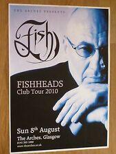 Fish (Marillion) - Glasgow aug.2010 tour concert gig poster