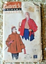 Vintage 1950's Butterick Sewing Pattern 5608 Swing Jacket Swagger Coat XS/S