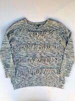 Express Sweater Gray Pullover Crewneck Long Sleeve Sweater Women's Size Medium