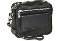 Rimbaldi® Handgelenktasche / Gürteltasche / Universaltasche aus Leder in Schwarz
