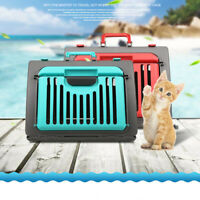 M Pet Dog Travel Carrier Cat Crate Handbag Outdoor Transport Kennel folding Cage