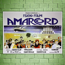 Movie Poster Amarcord - Federico Fellini - Size: 100x70 CM