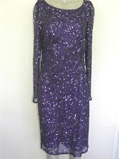 $198 Nordstrom Patra Purple Beaded Sequin Embellished Gown Holiday Dress Sz 14